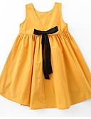 povoljno Haljine za djevojčice-Djeca Djevojčice Osnovni Jednobojni Bez rukávů Haljina