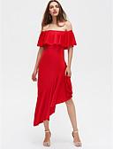 tanie Sukienki-Damskie Moda miejska Szczupła Spodnie - Solidne kolory Wysoka talia Czarny / Impreza / Bez ramiączek / Z odsłoniętymi ramionami / Asymetryczna / Z odsłoniętymi ramionami