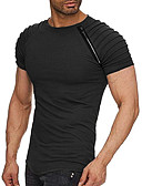 cheap Men's Shirts-Men's Basic T-shirt - Solid Colored Round Neck / Short Sleeve