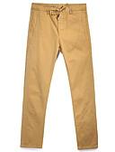 ieftine Pantaloni Bărbați si Pantaloni Scurți-Bărbați De Bază Pantaloni Chinos Pantaloni Mată Alb negru