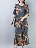 ieftine Costum Damă Două Bucăți-Pentru femei Mâneci Bufante Activ Set - Mată, Pantaloni Plisată