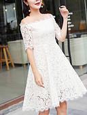 رخيصةأون فساتين للنساء-نسائي قياس كبير قطن بنطلون أسود و أبيض أبيض