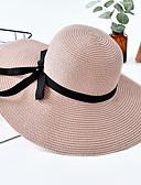 baratos Chapéus Femininos-Mulheres Básico / Férias De Palha Estampa Colorida