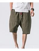 ieftine Pantaloni Bărbați si Pantaloni Scurți-Bărbați De Bază Pantaloni Scurți Pantaloni Mată Negru & Roșu
