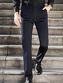 tanie Męskie spodnie i szorty-Męskie Podstawowy Garnitury Spodnie - Solidne kolory Niebieski
