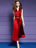 baratos Vestidos de Mulher-Mulheres Moda de Rua / Sofisticado Evasê / Bainha / balanço Vestido Médio