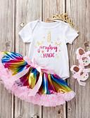 povoljno Kompletići za bebe-Dijete Djevojčice Jednobojni / Print / Kolaž Kratkih rukava Komplet odjeće