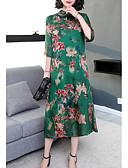 povoljno Ženske haljine-Žene Izlasci A kroj Haljina Ruska kragna Midi