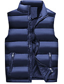 cheap Men's Downs & Parkas-Men's Daily Solid Colored Regular Padded, Cotton Sleeveless Stand Blue / Black XXXL / XXXXL / XXXXXL