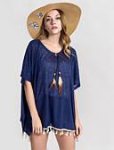 זול 2017ביקיני ובגדי ים-חצאית אחיד, פרנזים - כיסוי סירה מתחת לכתפיים בסיסי בגדי ריקוד נשים