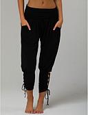 povoljno Ženske hlače-Žene Aktivan / Osnovni Harem hlače Hlače - Jednobojni Visoki struk Plava
