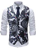 ieftine Maieu & Tricouri Bărbați-Bărbați Mărime Plus Size Γιλέκο Imprimeu / Fără manșon
