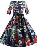 ieftine Tricou-Pentru femei Vintage Bumbac Zvelt Pantaloni - Floral Cu Șiret Bleumarin
