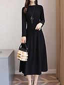tanie Print Dresses-Damskie Podstawowy Linia A Sukienka Midi