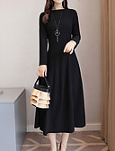 cheap Women's Dresses-women's basic a line dress midi