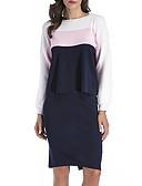 ieftine Tricou-Pentru femei De Bază / Șic Stradă Set - Bloc Culoare, Fustă