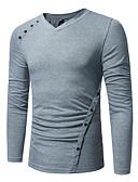tanie Koszulki i tank topy męskie-T-shirt Męskie Podstawowy, Patchwork Solidne kolory