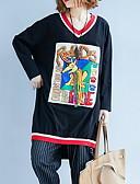 ieftine Tricou-Pentru femei În V Tricou De Bază - Bloc Culoare / camuflaj