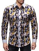 abordables Camisas de Hombre-Hombre Negocios / Básico Camisa A Lunares