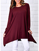 cheap Women's Blouses-Women's Cotton T-shirt - Solid Colored