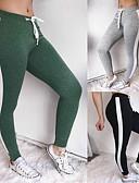 billige Tights til damer-Dame Lapper Yogabukser - Svart, Grå, Grønn sport Fargeblokk Skinny bukser Trening, Treningssenter Sportsklær Komprimering, Push up-bukser Høy Elastisitet