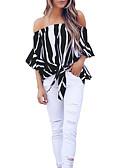 cheap Women's Blouses-women's cotton blouse - striped strapless