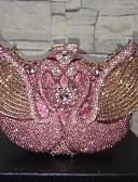 preiswerte Maxikleider-Damen Taschen Aleación Abendtasche Kristall Verzierung / Ausgehöhlt Rosa