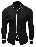 お買い得  メンズシャツ-男性用 ワーク シャツ ビジネス / ベーシック ソリッド ホワイト XL / 長袖