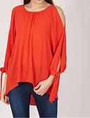 ieftine Cămașă-Pentru femei Mărime Plus Size Bluză De Bază / Șic Stradă - Mată Mâneci Bufante, Funde / Plisată / Larg