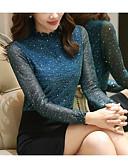 ieftine Bluze & Camisole Femei-Pentru femei Bluză De Bază / Șic Stradă - Buline Dantelă / Paiete / Ștrasuri