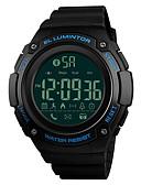 cheap Sport Watches-SKMEI Men's Sport Watch Wrist Watch Japanese Digital 50 m Bluetooth Alarm Calendar / date / day PU Band Digital Luxury Fashion Black / Clover - Green Blue Golden One Year Battery Life / Chronograph
