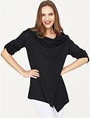billige Gensere til damer-Dame Langermet Løstsittende Pullover - Ensfarget