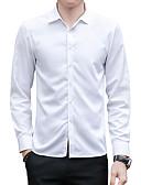 זול חולצות לגברים-אחיד צווארון קלאסי רזה חולצה - בגדי ריקוד גברים / שרוול ארוך