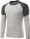 cheap Men's Sweaters & Cardigans-Men's Basic Pullover - Color Block