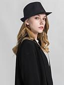 olcso Női kalapok-Uniszex Egyszínű Alap - Fedora kalap
