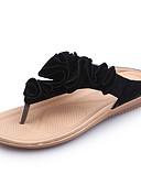 رخيصةأون فساتين طويلة-نسائي صنادل بحافة المواد التركيبية الصيف حلو النعال ومتخاذلا يتخبط كعب مسطخ أمام الحذاء على شكل دائري أسود / البيج / أخضر