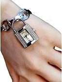 זול קווארץ-בגדי ריקוד נשים שעון יד קווארץ כרונוגרף זורח חמוד סגסוגת להקה אנלוגי אופנתי אלגנטית כסף - לבן שחור / חיקוי יהלום