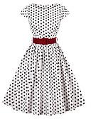 tanie Sukienki-Damskie Wyjściowe Vintage / Moda miejska Linia A Sukienka - Groszki Do kolan