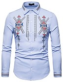 ieftine Maieu & Tricouri Bărbați-Bărbați Cămașă Boho / Chinoiserie - Tribal Brodat