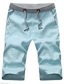 ieftine Pantaloni Bărbați si Pantaloni Scurți-Bărbați De Bază Zvelt Pantaloni Chinos Pantaloni - Mată Albastru Deschis / Vară