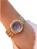 זול קווארץ-בגדי ריקוד נשים שעון יד קווארץ כרונוגרף זורח שעונים יום יומיים סגסוגת להקה אנלוגי פאר מדבקות עם נצנצים כסף / זהב - זהב כסף / חיקוי יהלום / צג גדול