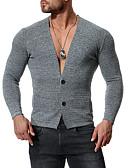 abordables Sudaderas de Hombre-Hombre Básico Cardigan - Un Color