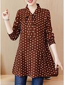 זול חולצה-מנוקד צווארון V חולצה - בגדי ריקוד נשים