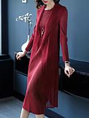 رخيصةأون دانتيل رومانسي-ميدي سادة - فستان غمد أساسي / أنيق للمرأة