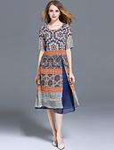 cheap Women's Dresses-SHIHUATANG Women's Street chic Chiffon Dress - Geometric Print