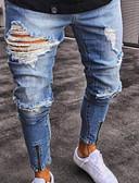 billige Herreundertøj og -sokker-Herre Bomuld Jeans Bukser - Ensfarvet Lyseblå