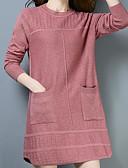 tanie Damska spódnica-Damskie Moda miejska Długie Pulower Solidne kolory Długi rękaw