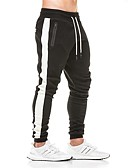 cheap Men's Jackets & Coats-Men's Pocket Jogger Pants Track Pants Sweatpants Sports Stripes Pants / Trousers Bottoms Fitness Gym Workout Activewear Thermal / Warm Breathable Soft Sweat-wicking Stretchy