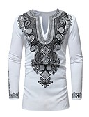 povoljno Muške majice i potkošulje-Majica s rukavima Muškarci Dnevno Geometrijski oblici Print