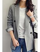 baratos Ternos & Blazers Masculinos-blazer feminino de lapela de entalhe colorido sólido